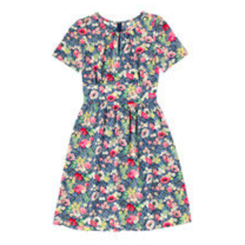 Winfield Flowers Silk Tea Dress