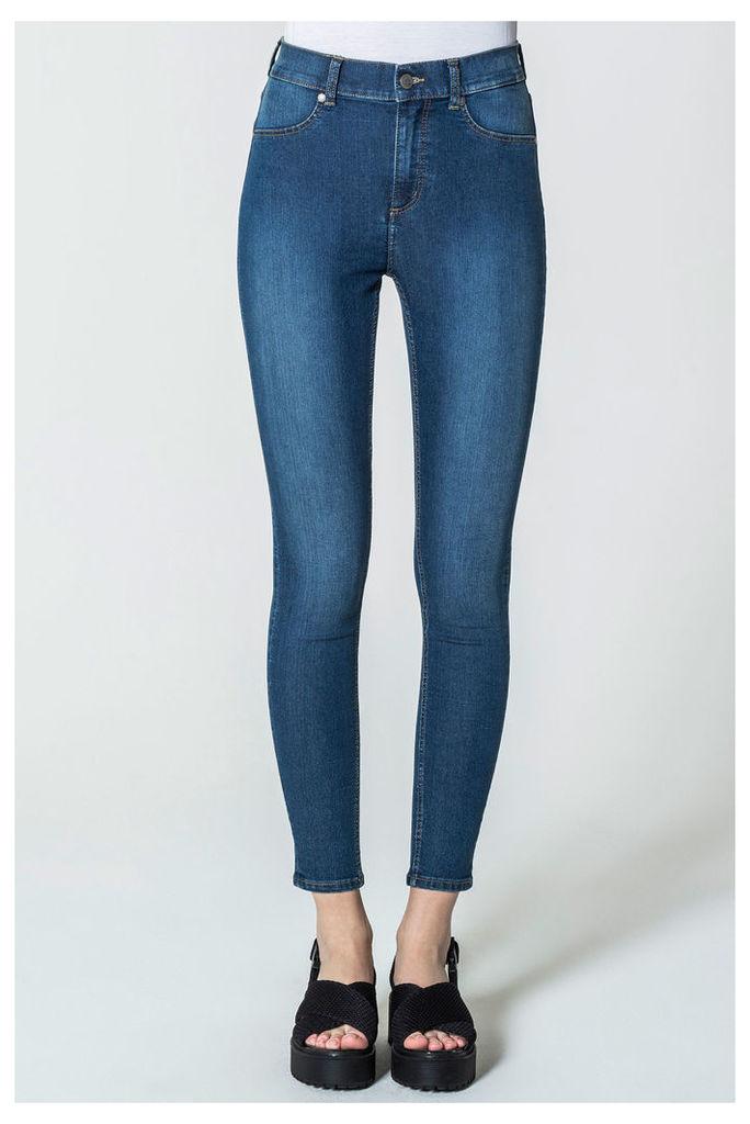 High Spray Mid Blue Jeans