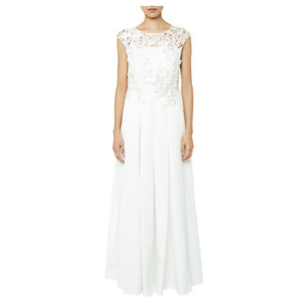 Ted Baker Tie The Knot Iyla Embroidered Applique Bridal Gown, White
