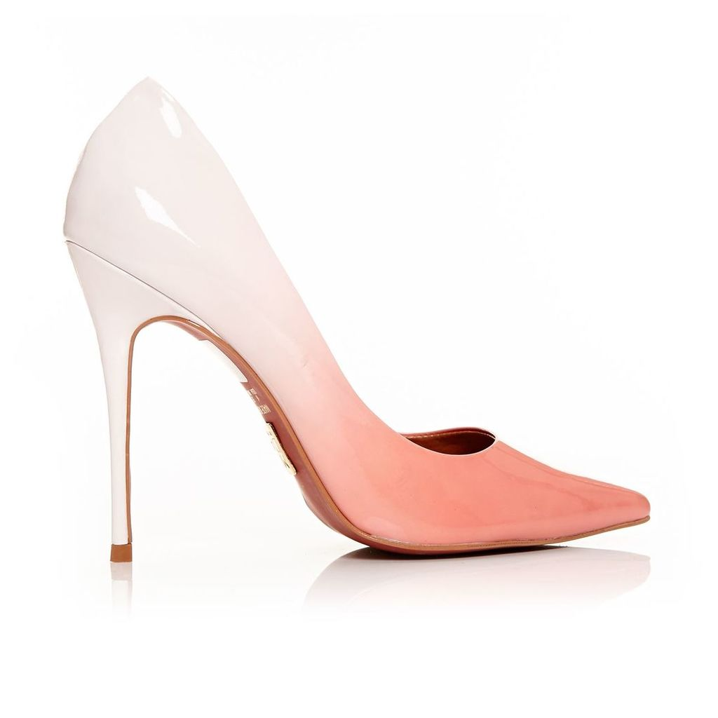 Moda in Pelle Cristina Peach Very High Smart Shoes