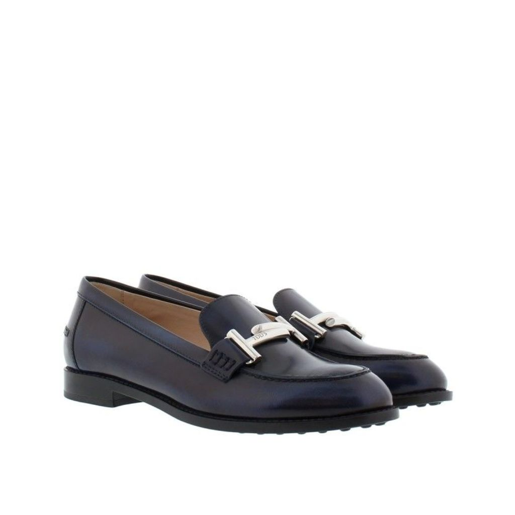 Tod's Loafers & Slippers - Double T Mocassino Gomma Loafers Blue - in blue - Loafers & Slippers for ladies