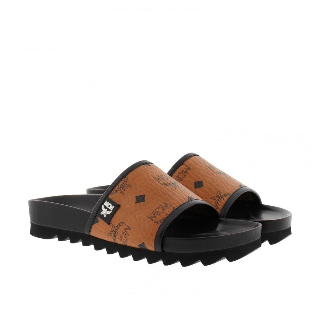 MCM Loafers & Slippers - W Visetos Slide Slip On Cognac - in cognac - Loafers & Slippers for ladies