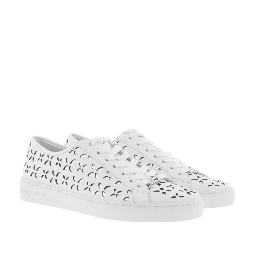 Michael Kors Sneakers - Keaton Sneaker Lasered Leather Optic White/Silver - in white - Sneakers for ladies