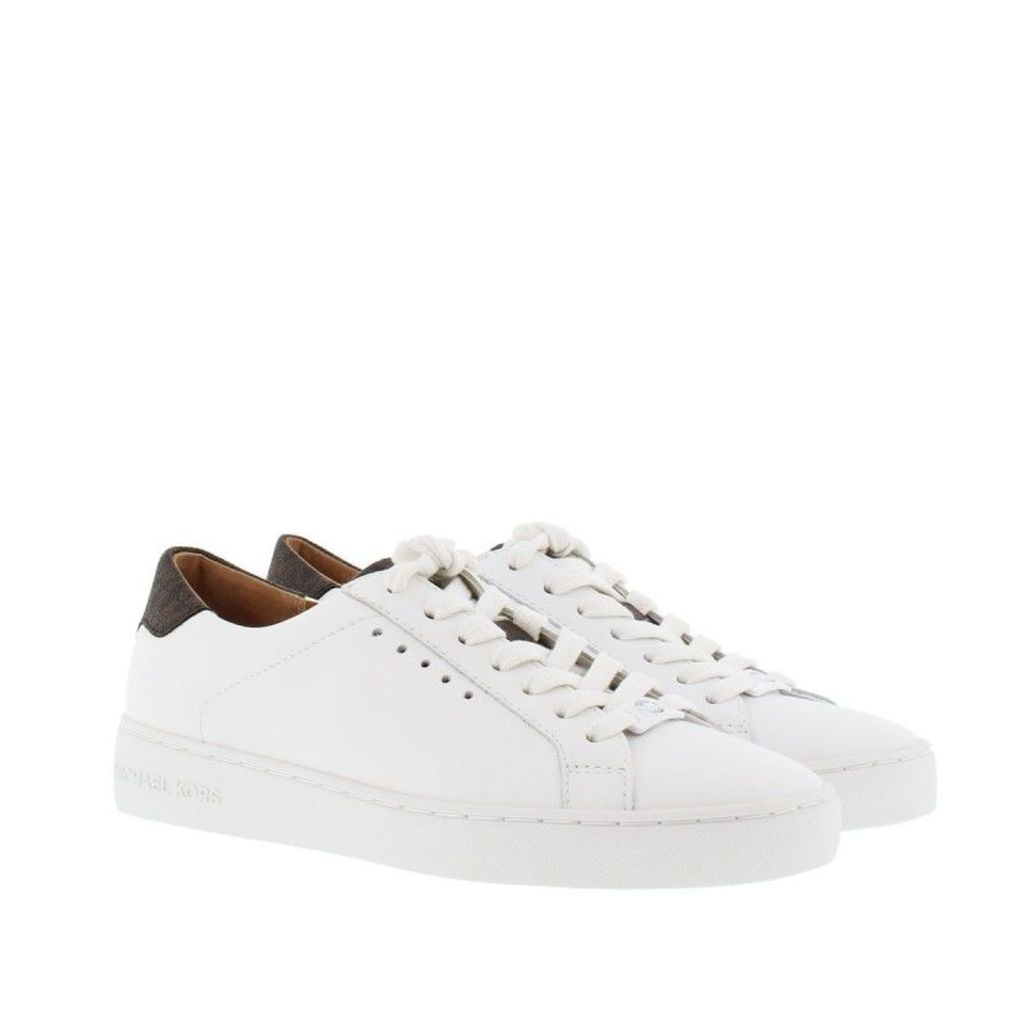 Michael Kors Sneakers - Irving Lace Up Sneaker Optic White/ Brown - in white - Sneakers for ladies