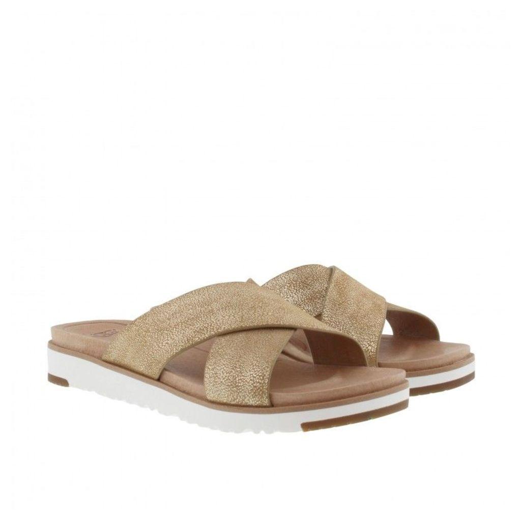 UGG Sandals - Kari Metallic Sandals Gold - in gold, beige - Sandals for ladies