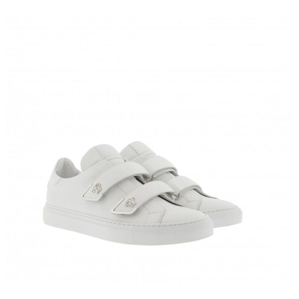 Versace Sneakers - Calf Leather Sneaker White/Palladium - in white - Sneakers for ladies