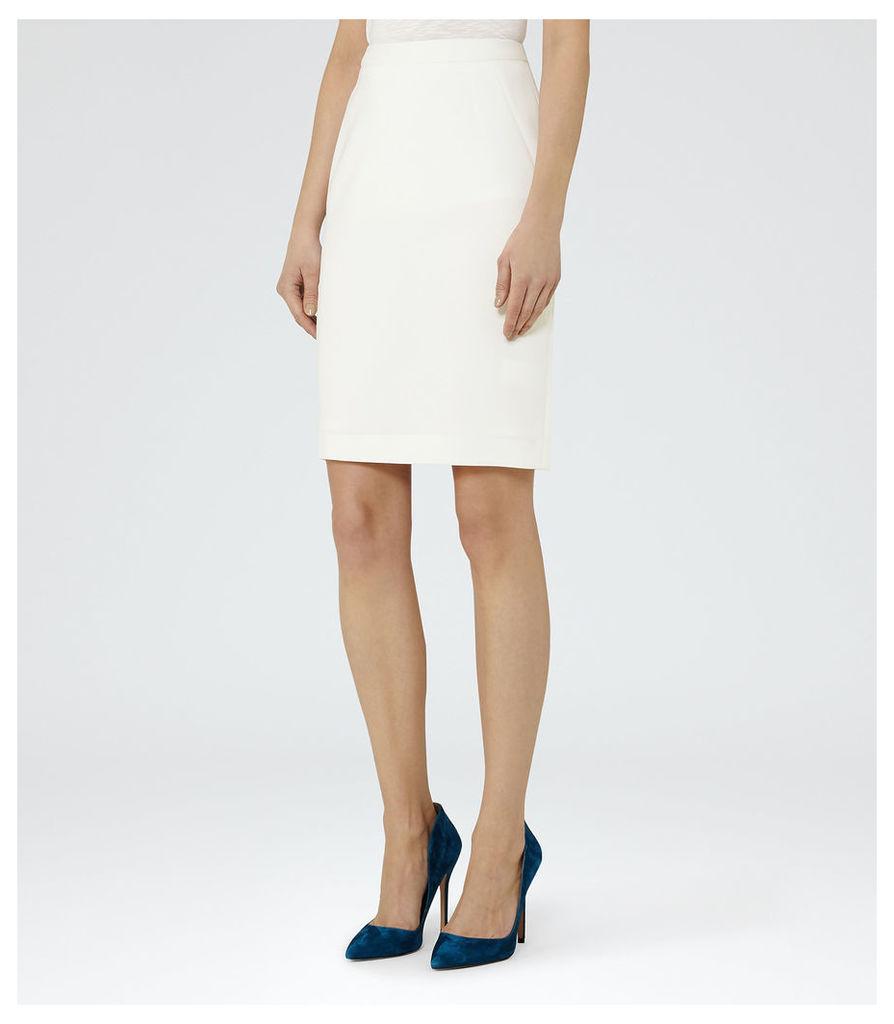 REISS Myla Skirt - Womens Pencil Skirt in White