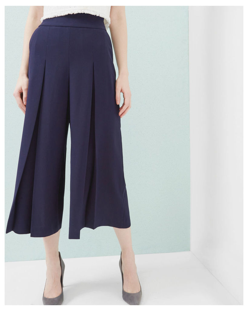Ted Baker Pleated crepe culottes Navy