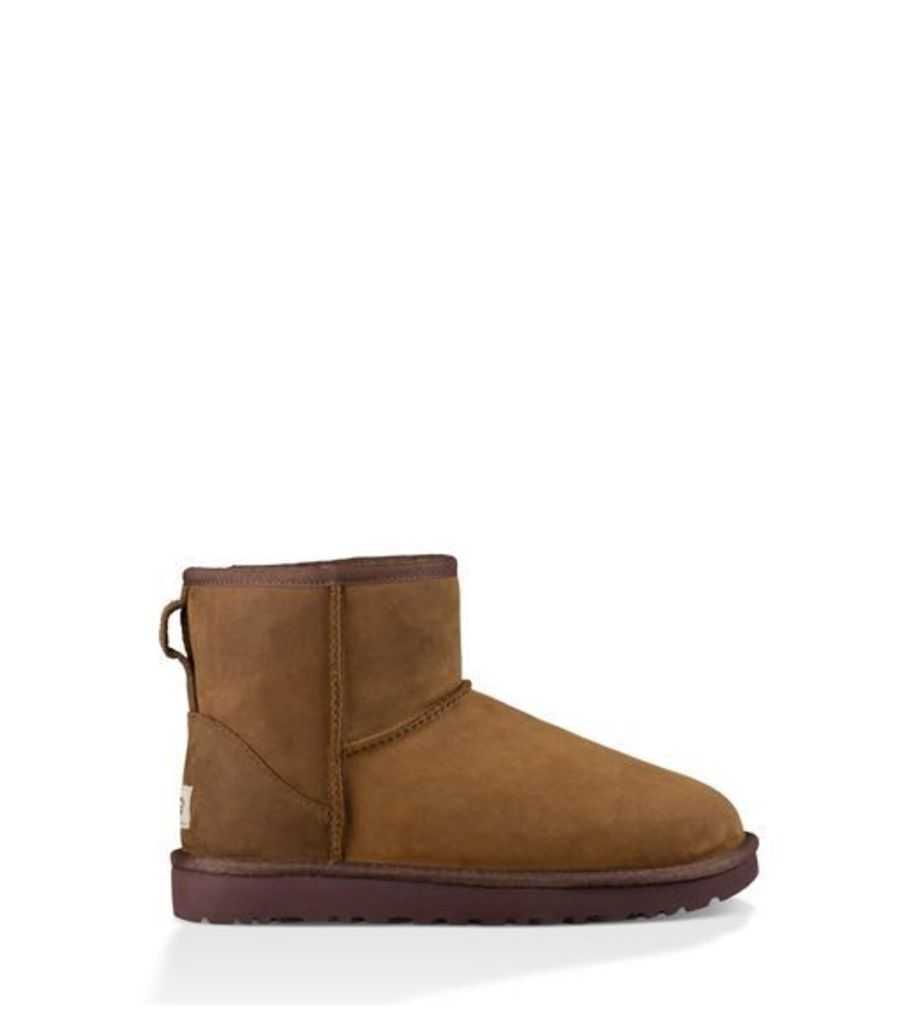 UGG Classic Mini Leather Womens Classic Boots Chestnut 4