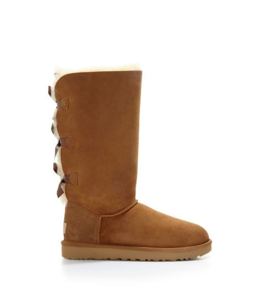 UGG Bailey Bow Tall Ii Womens Classic Boots Chestnut 7