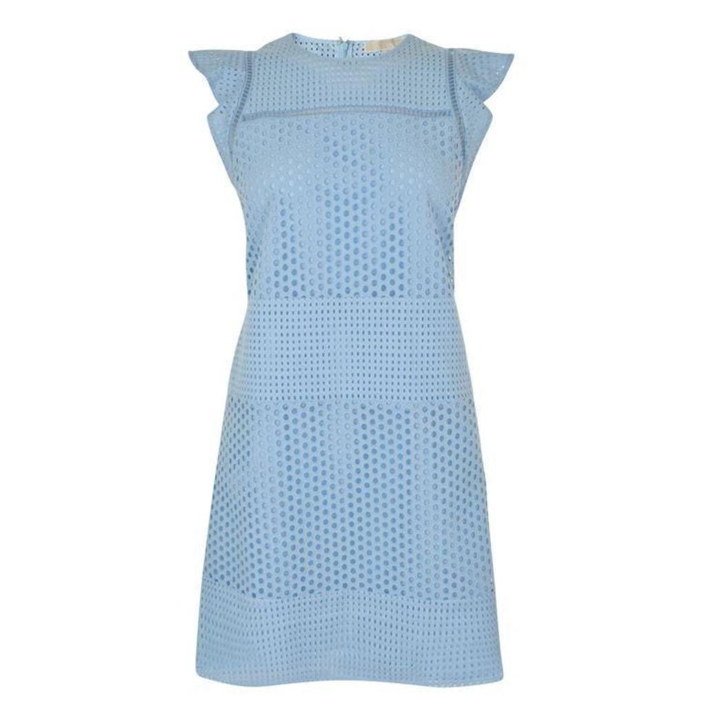 MICHAEL MICHAEL KORS Ruffle Sleeve Shift Dress