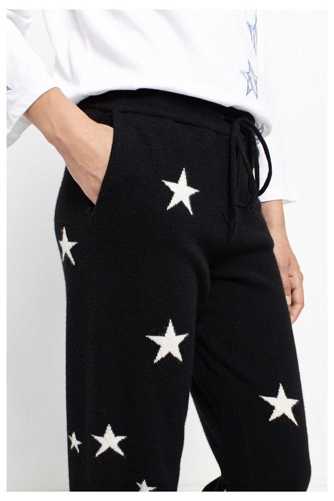 Black Star Cashmere Track Pants