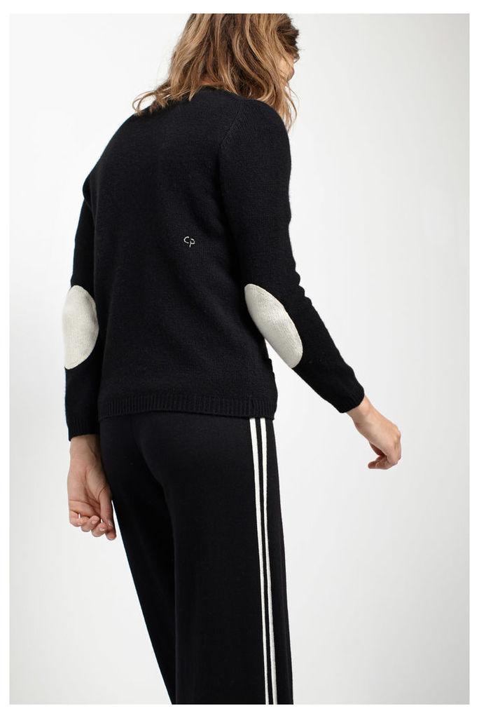 Short Black Cashmere Cardigan