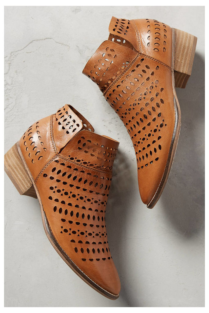 Tame Laser-Cut Ankle Boots