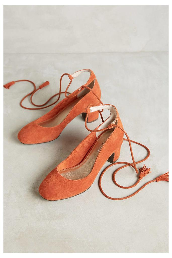 Pachuca Ankle-Wrap Heels
