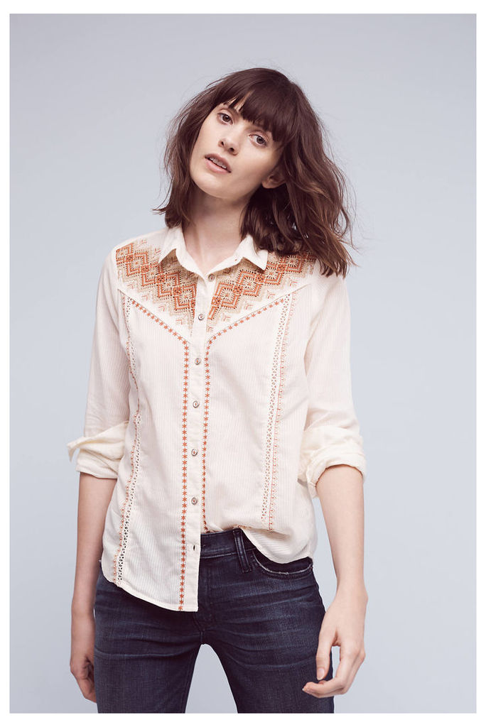 Iverie Embroidered Shirt, White