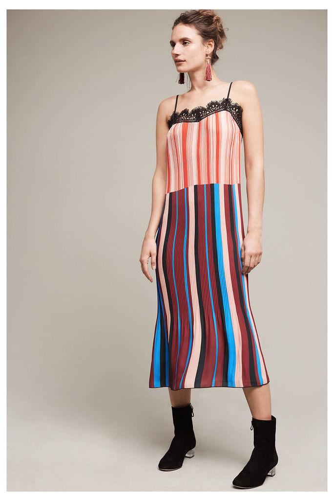 Joelle Stripe Slip Dress, Blue