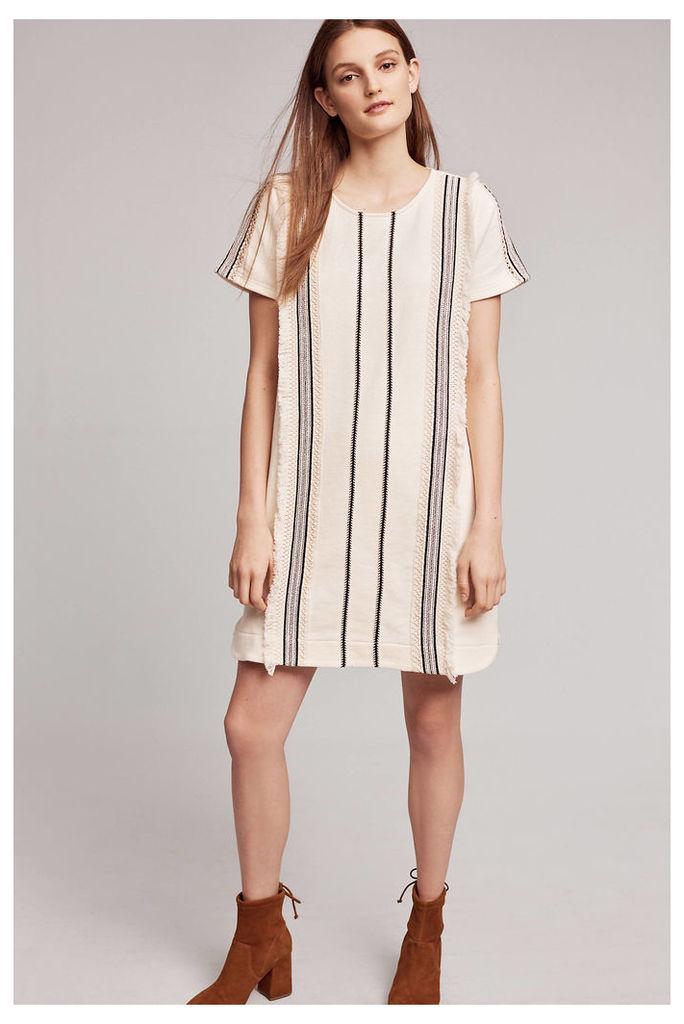 Luna Fringed Tunic Dress, Ivory