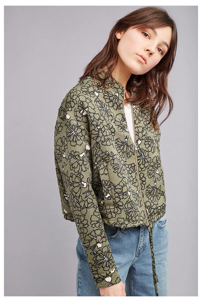 Adrian Floral Bomber Jacket, Khaki