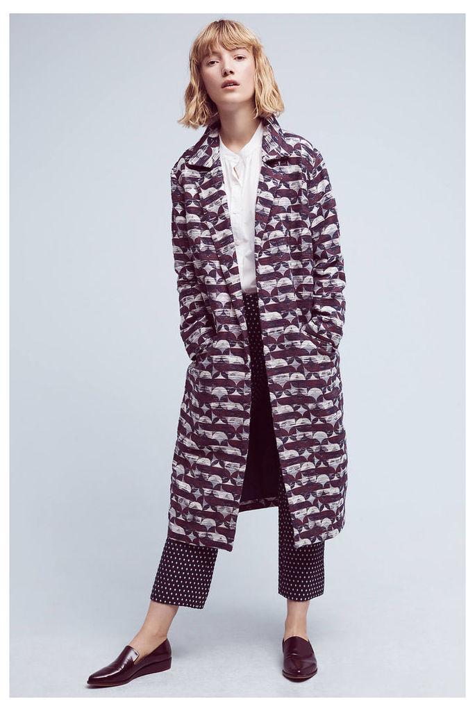 Geode Printed Coat, Purple