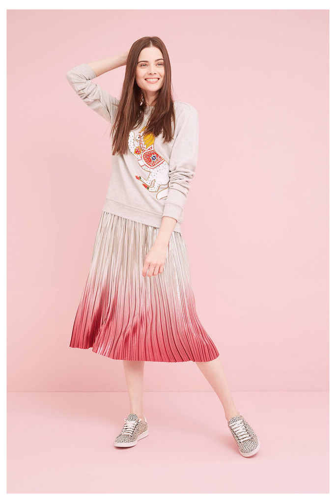Peggy Metallic Ombre Skirt, Pink