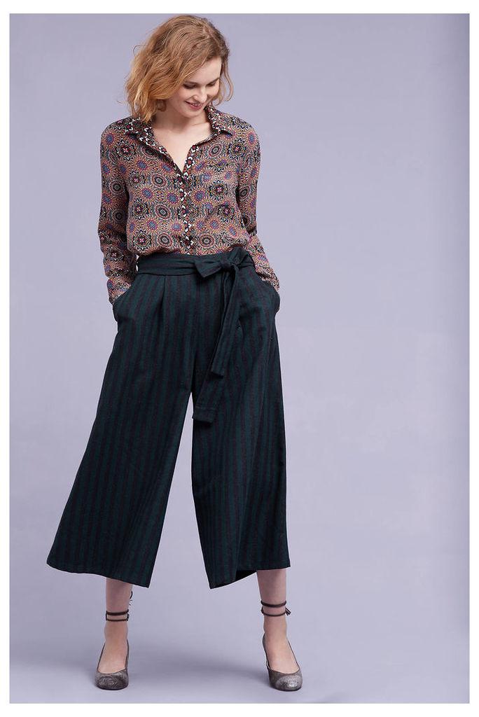 Annabel Wide-Leg Trousers, Green