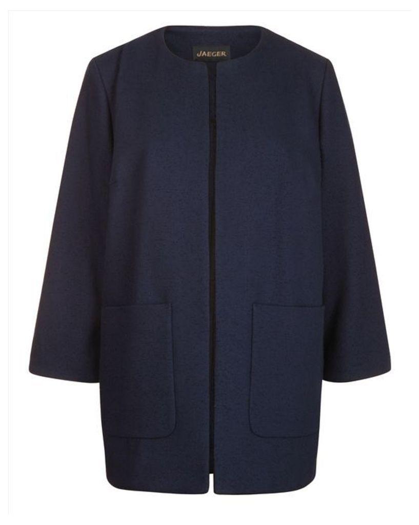 Edge-to-Edge Collarless Jacket