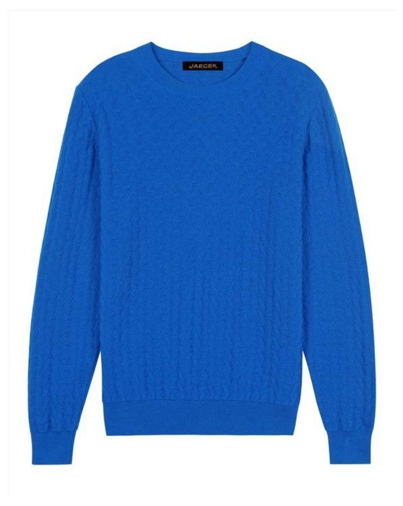 Cotton Straw Jacquard Sweater