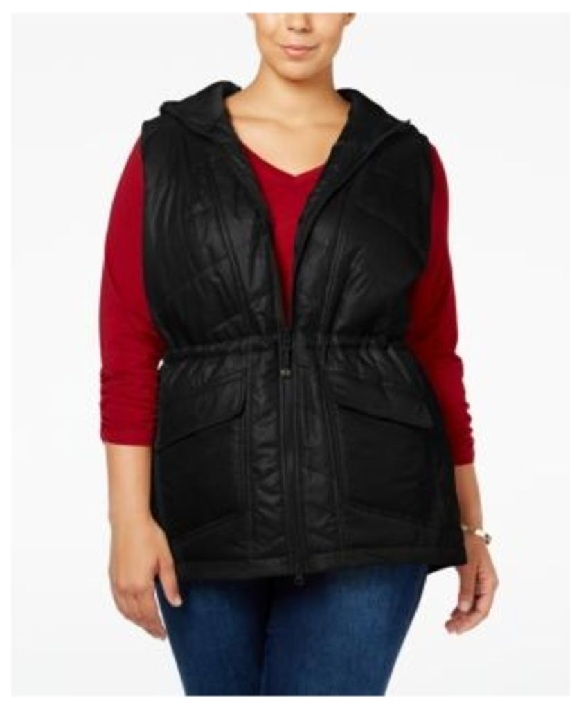 Style & Co Plus Size Hooded Puffer Vest, Only at Macy's