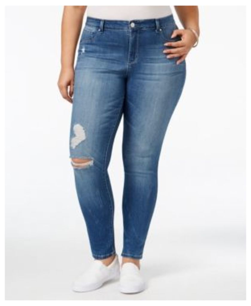Jessica Simpson Trendy Plus Size Rufford Wash Skinny Jeans