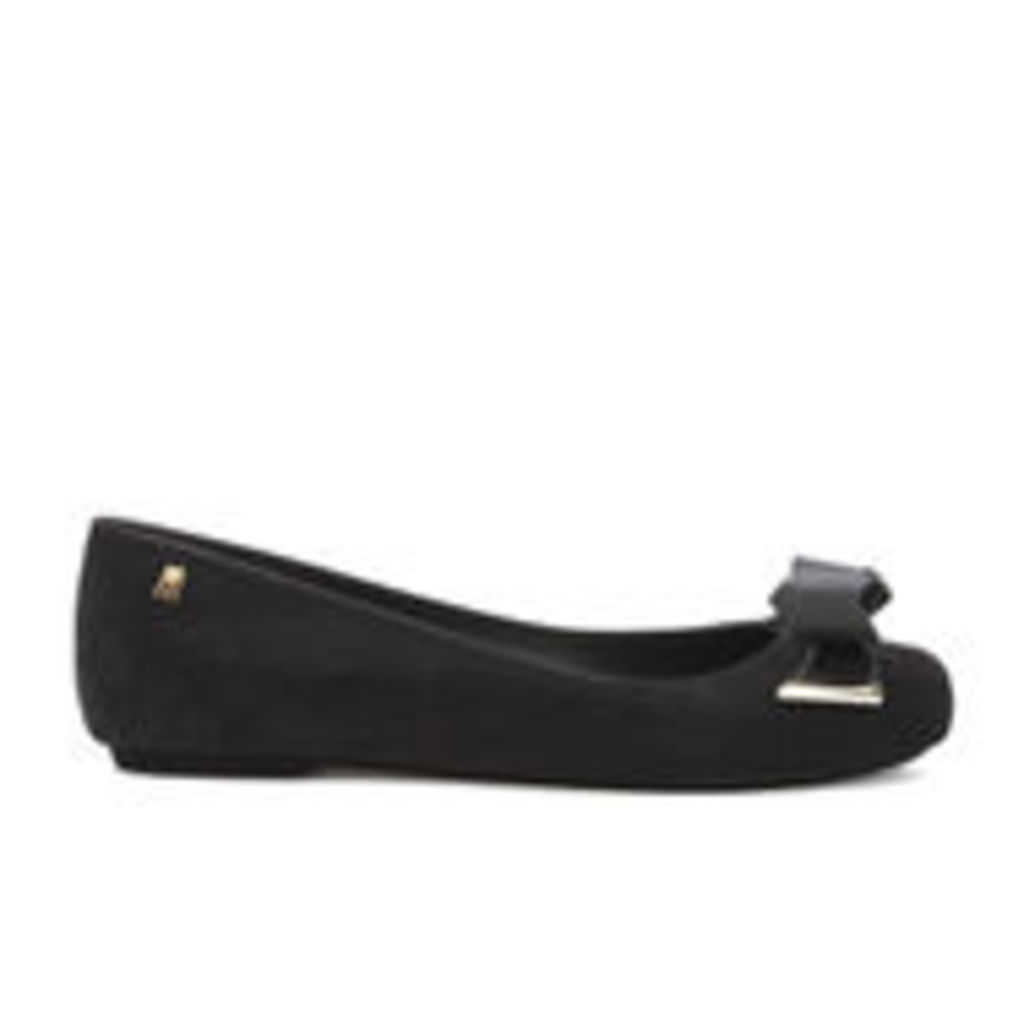 Melissa Women's Space Love 16 Ballet Flats - Black Flock - UK 6