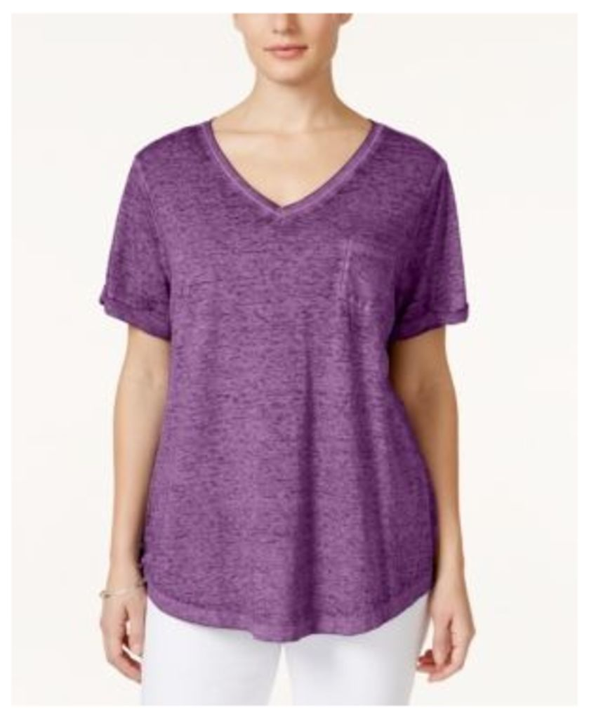 Style & Co Plus Size V-Neck Tee