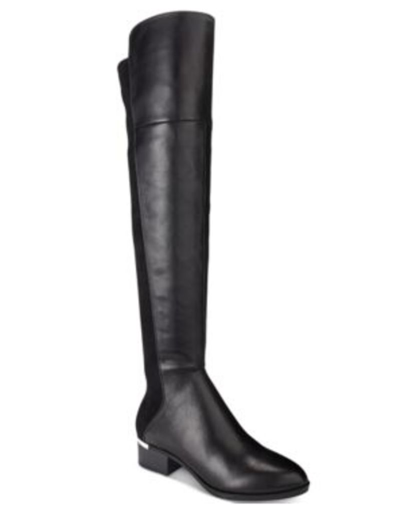 Bar Iii Rene Metal-Heel Over-The-Knee Stretch Boots, Only at Macy's Women's Shoes