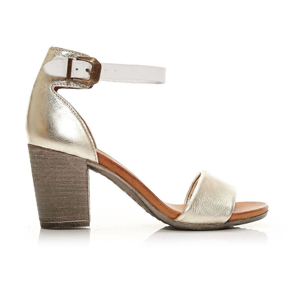 Moda in Pelle Loella Champagne High Casual Sandals