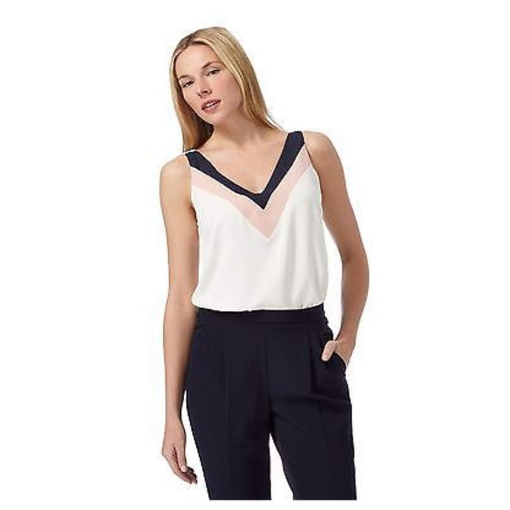 Principles By Ben De Lisi Womens Ivory Blocked Cami Top From Debenhams