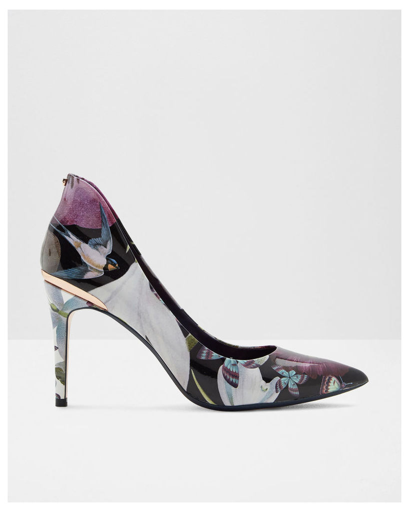 Ted Baker Printed leather court Navy