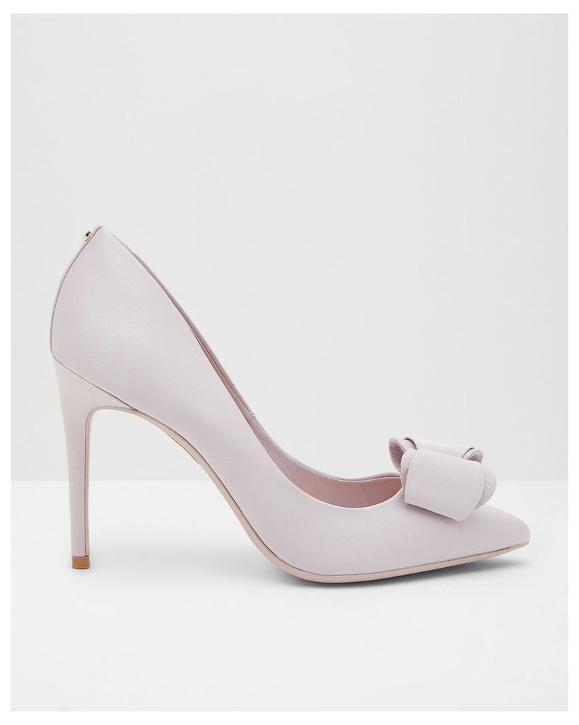 Ted Baker Bow detail satin courts Pale Purple