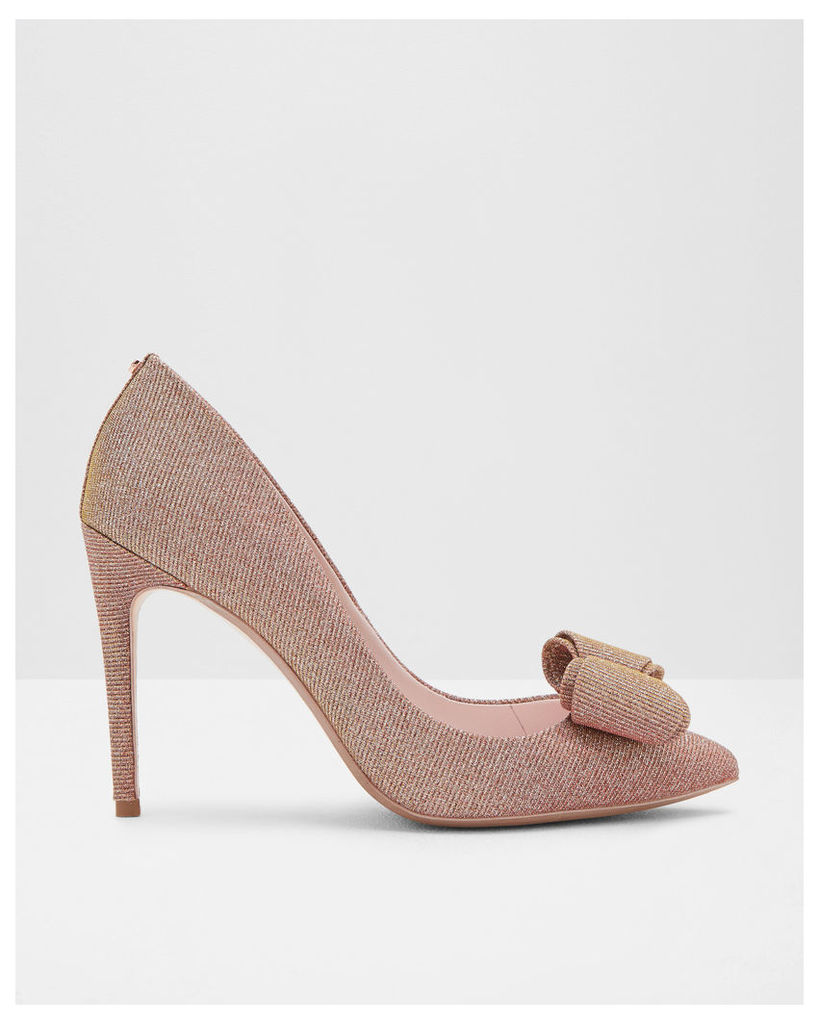 Ted Baker Bow detail satin courts Rose Gold