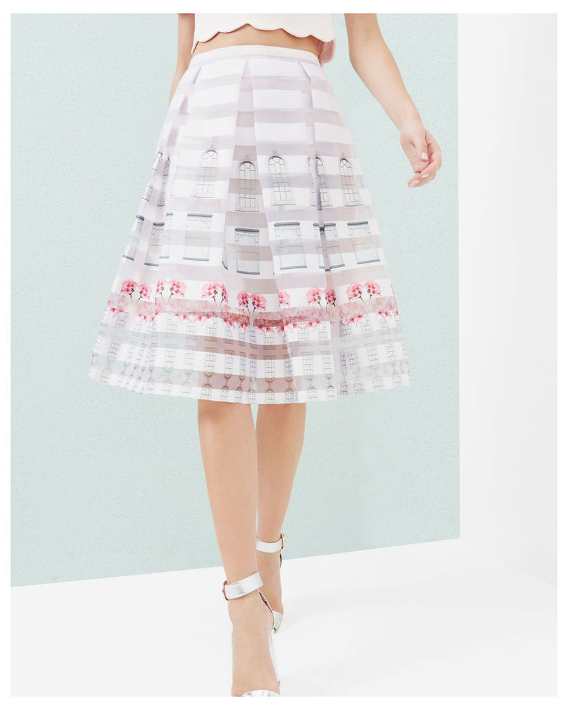 Ted Baker Burnout Window Box skirt Baby Pink