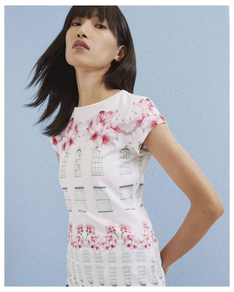 Ted Baker Window Box fitted T-shirt Baby Pink