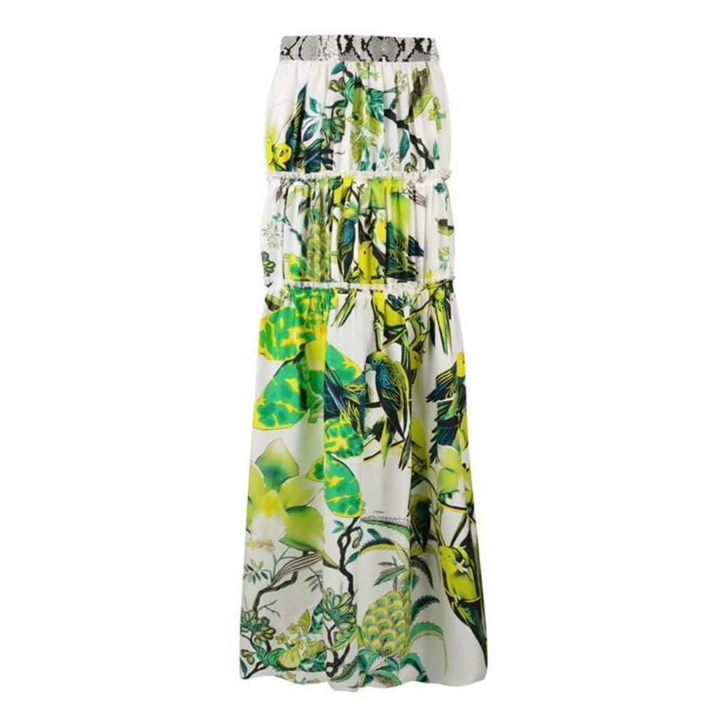 ROBERTO CAVALLI Exotic Print Maxi Skirt