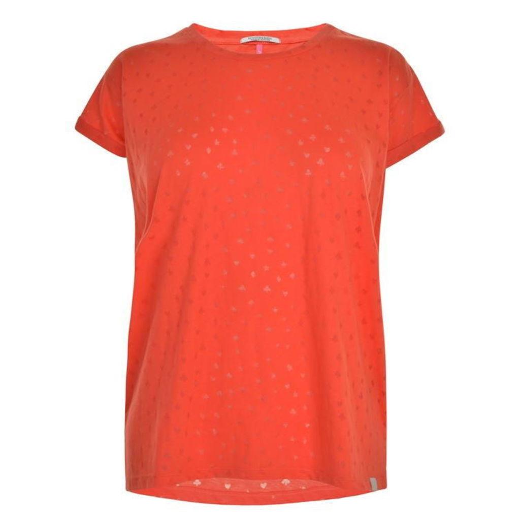 MAISON SCOTCH Ausbrenner T Shirt