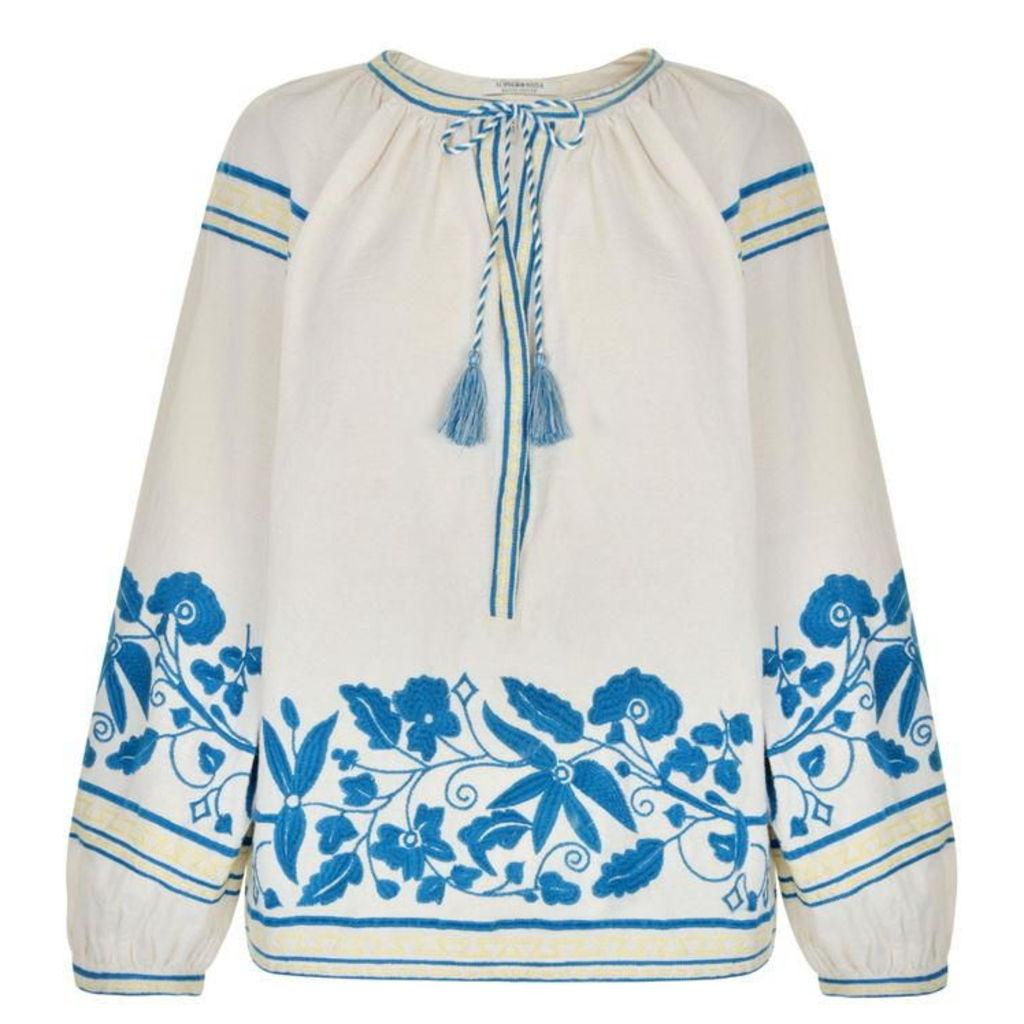 MAISON SCOTCH Boho Embroidered Top