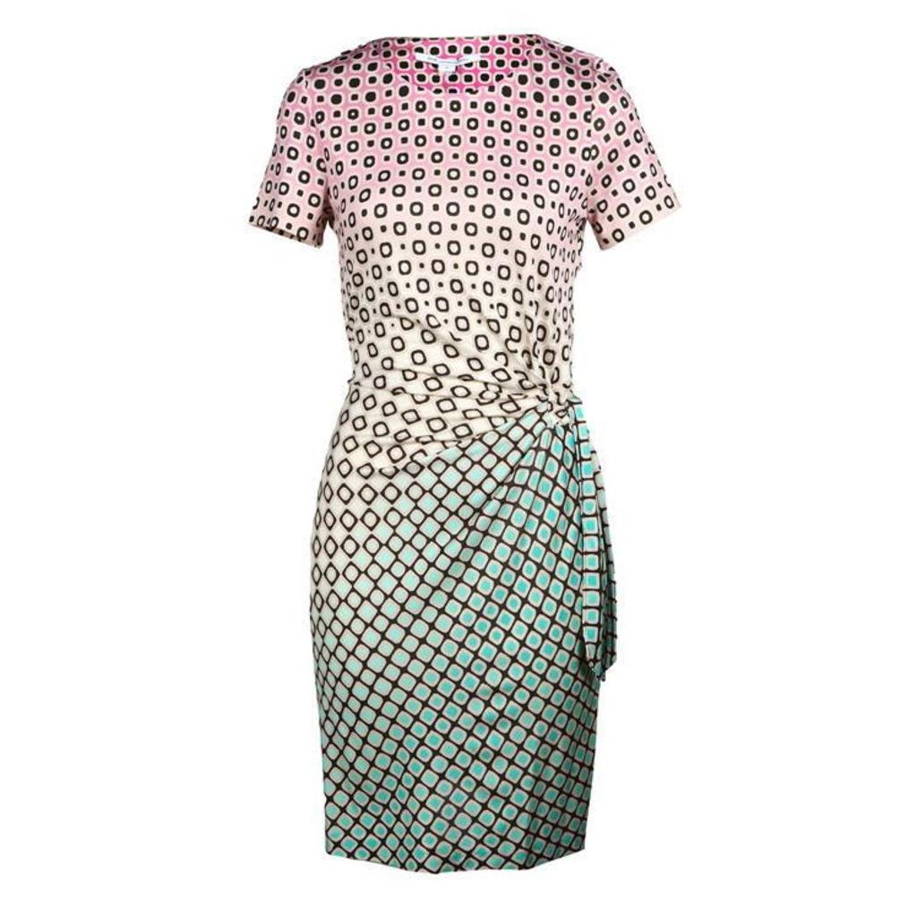 DIANE VON FURSTENBERG Zoe Fouldade Ombre Silk Dress
