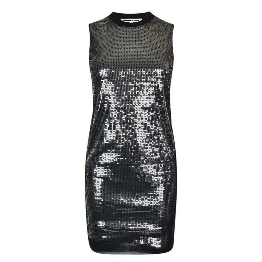 MCQ ALEXANDER MCQUEEN Mesh Sequin Dress
