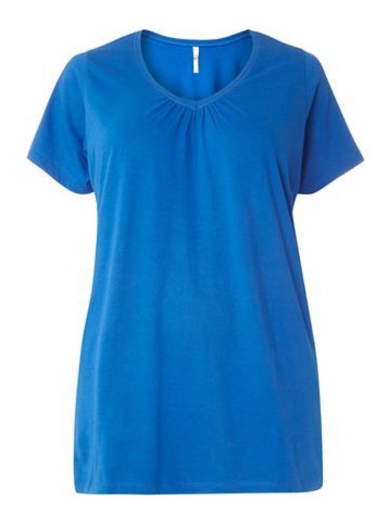 Blue Short Sleeve T-Shirt, Blue