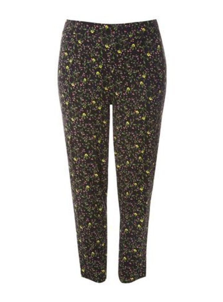 Colourful Floral Tapered Trousers, Others