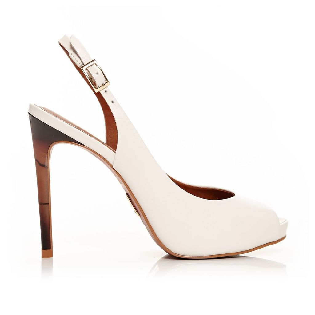 Moda in Pelle Chia Light Nude Very High Smart Shoes