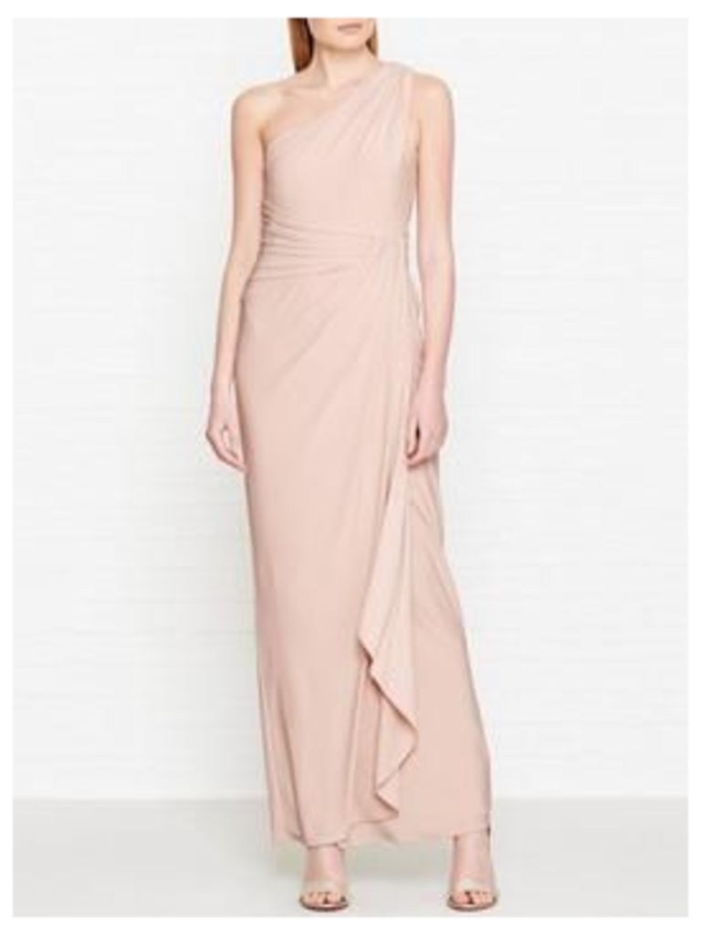 Hobbs Neve One Shoulder Maxi Dress - Peach Pink