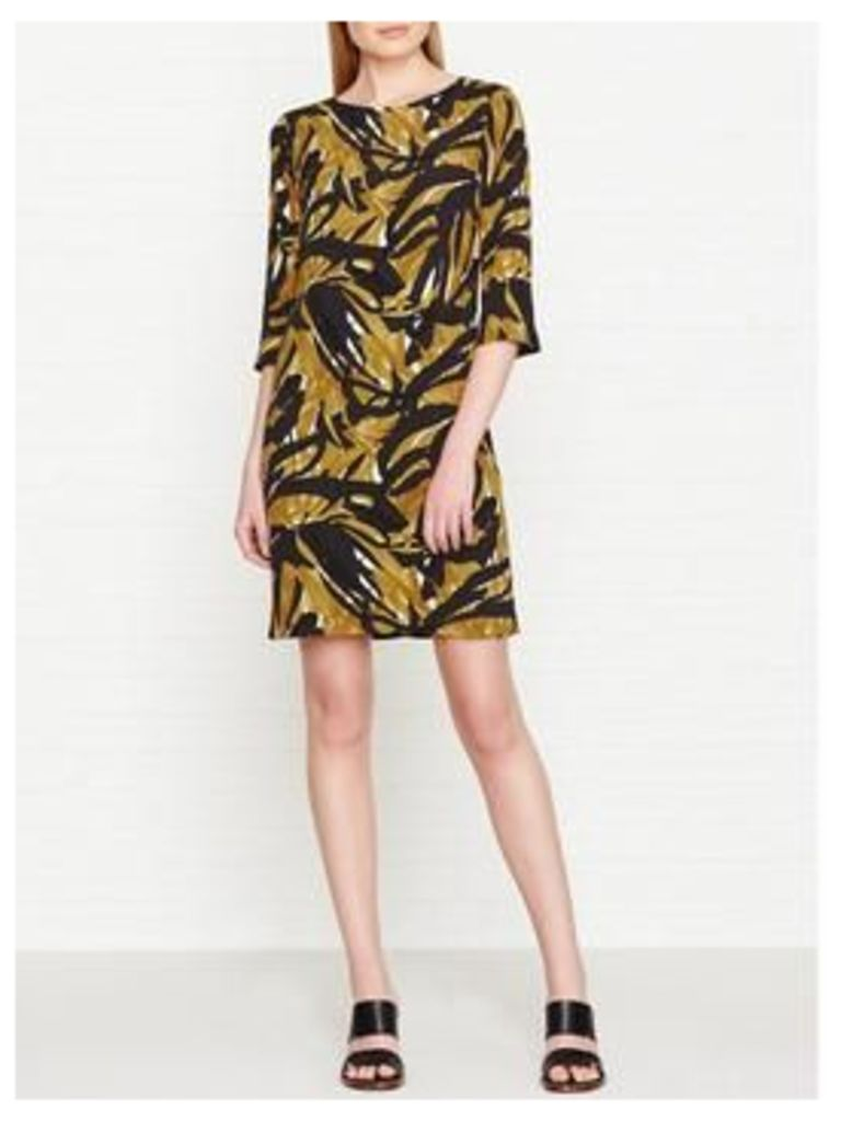 Hobbs Chrissie All Over Printed Dress - Gold